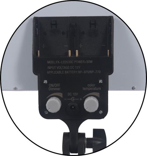 kit iluminação para fotografia painel de led bicolor 30w