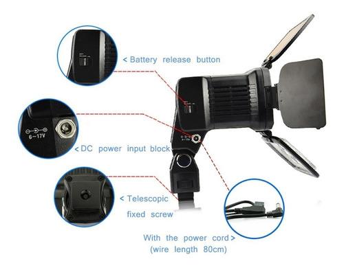 kit iluminador 10 super leds p canon nikon + bateria np-f750