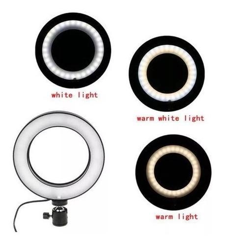 kit iluminador led circular beauty ring light + tripé 3110
