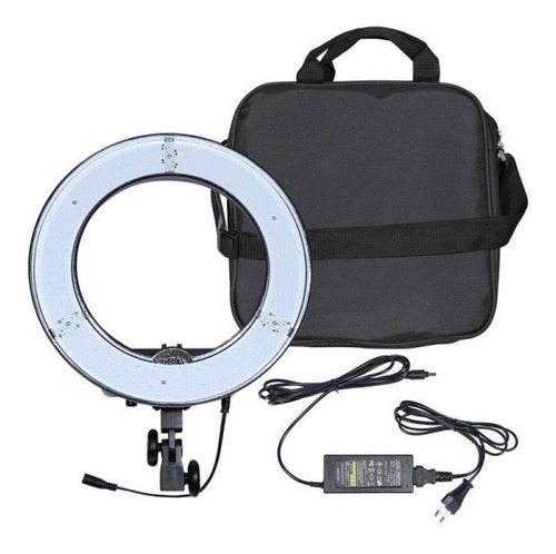 kit iluminador led ring light rl-12 foto make c tripé greika