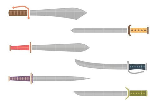 kit imágenes digitales espadas sword set
