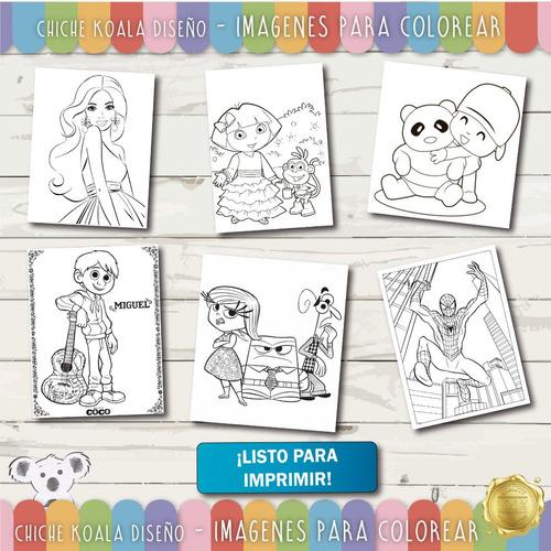 Kit Imagenes Para Colorear Pintar Disney Y Mas 2018 - $ 49,00 en ...