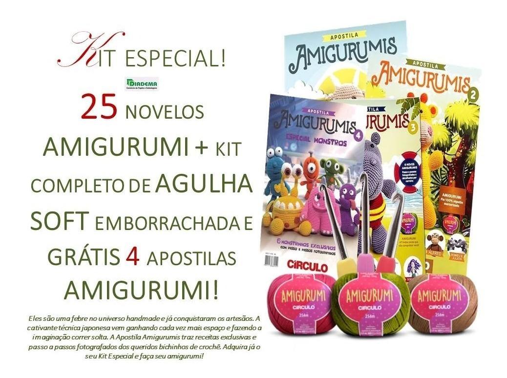 Kit Amigurumi Crochê Círculo S/A - Linha de Bordado - Magazine Luiza | 774x1038