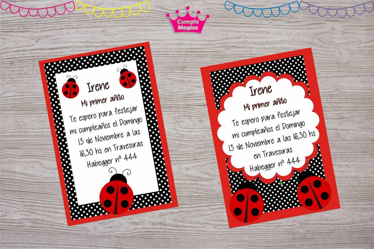 Kit Impreso Cumpleaños Bautismo 1 Año Vaquita San Antonio