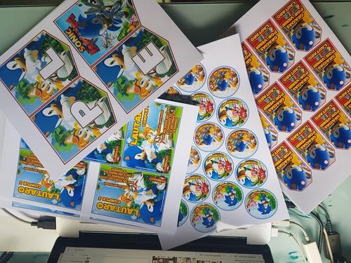 kit  impreso invitaciones banderin tarjetitas cartel