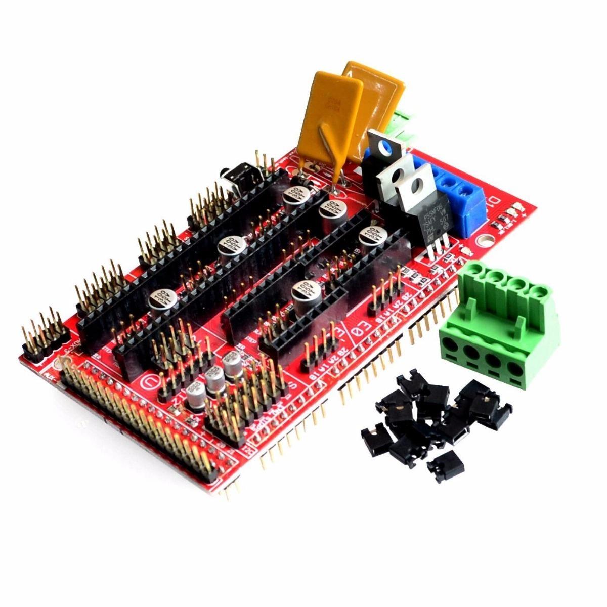 Kit Impresora 3d Arduino Mega 2560 Usb Ramps 5 A4988 Nut R3 1 4 Drivers Para Cargando Zoom