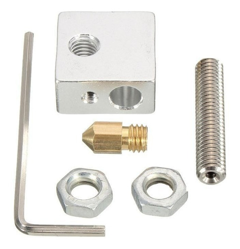 kit impresora 3d bloque termico + boquilla nozzle + allen