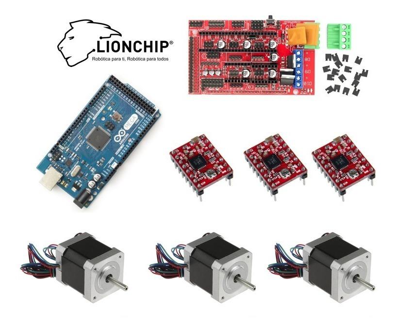 Kit Impresora 3d Cnc Grbl Arduino Mega Nema 17 Shield A4988