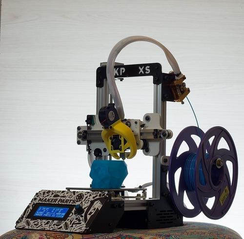 kit impresora 3d makerparts xs + 1kg de pla