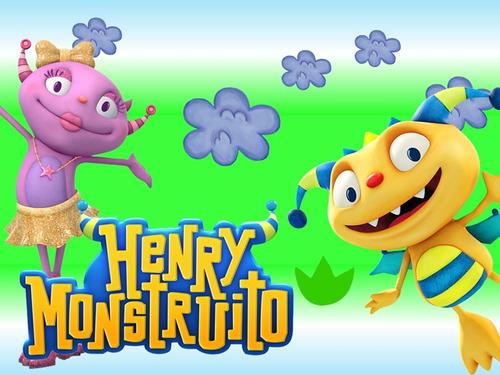 kit imprimibe henry monstruito feliz diseñá tarjetas, cumple