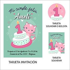 Kit Imprimible 1 Año Nena Original Cumpleaños Invitación