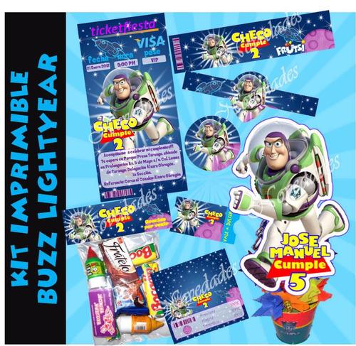 kit imprimible 1 buzz lightyear tarjetas candy bar