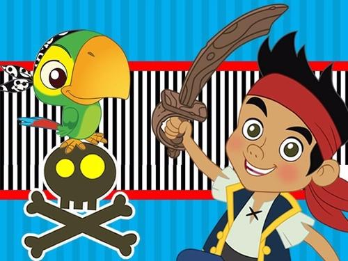 kit imprimible 1 jake y los piratas candy bar tarjetas y mas