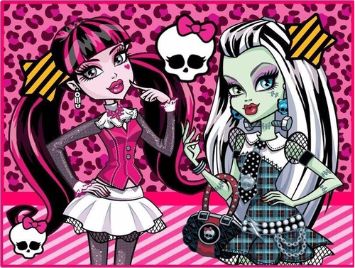 kit imprimible 1 monster high candy bar tarjetas y mas