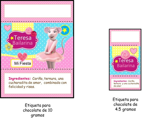 kit imprimible 100% editable  agelina bailarina oferta 2x1
