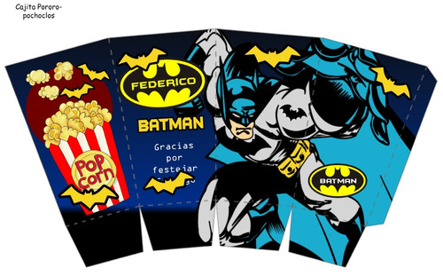 kit imprimible 100% editable batman oferta 2x1