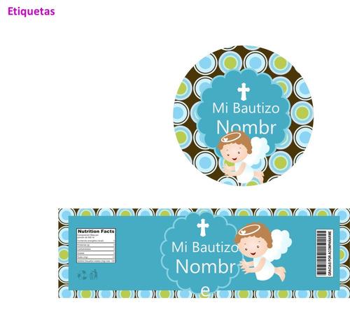 kit imprimible 100% editable bautizo niño oferta 2x1