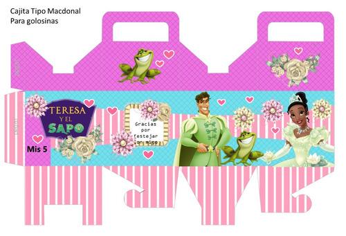 kit imprimible 100% editable la princesa y e sapo oferta 2x1