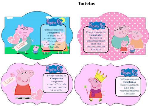 kit imprimible 100% editable pepa pig oferta 2x1