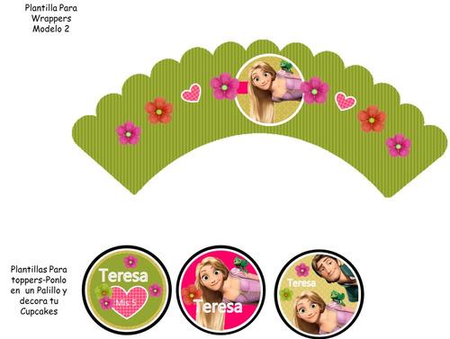 kit imprimible 100% editable rapunzel enrredados oferta 2x1
