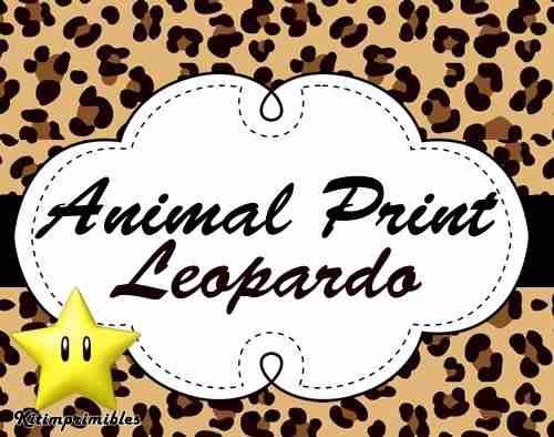 kit imprimible 2 animal print leopardo tarjetas cumpleanos