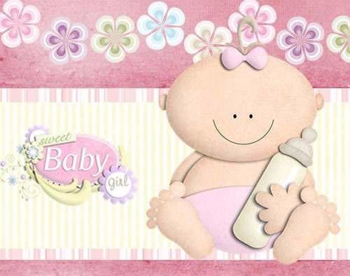 kit imprimible 2 baby shower nena diseñá tarjetas y mas