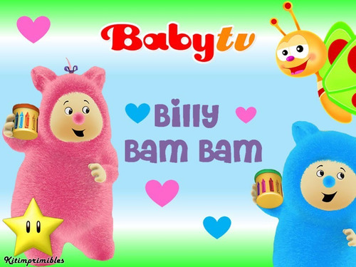 kit imprimible 2 billy bam bam babytv diseñá tarjetas cumple