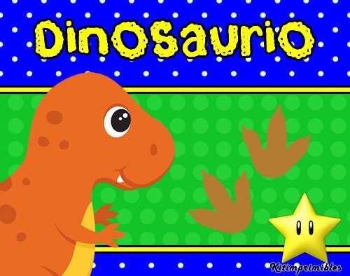 kit imprimible 2 dinosaurios diseñá tarjetas, cumples y mas