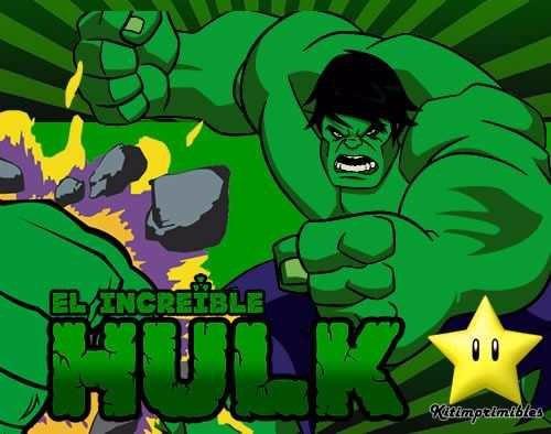 kit imprimible 2 el increible hulk diseñá tarjetas, cumples
