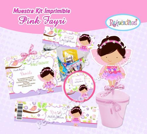 kit imprimible 2 hadita baby shower fiesta bautizo