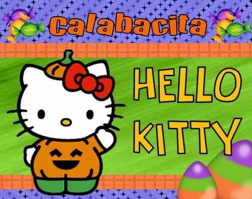 kit imprimible 2 hello kitty halloween calabacita y mas !