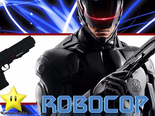 kit imprimible 2 robocop diseñá tarjetas invitaciones mas