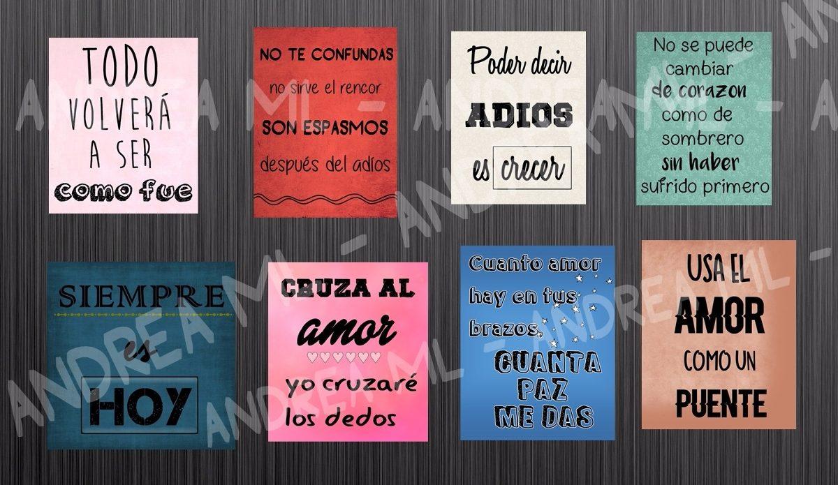 Kit Imprimible 25 Frases De Rock Nacional Para Cuadritos 30 00