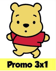 Kit Imprimible 3x1 Winnie Pooh Bebe