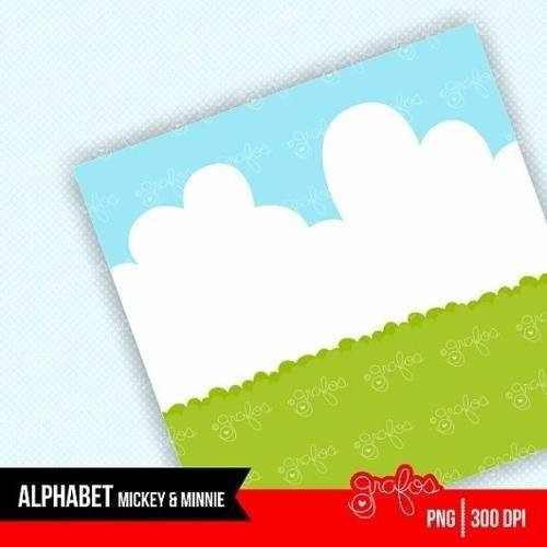 kit imprimible abecedario mickey y minnie imagenes clipart