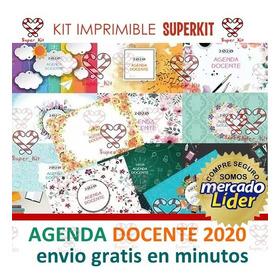 Kit Imprimible Agenda Docente 2020 15 Modelos En 1 Solo Kit