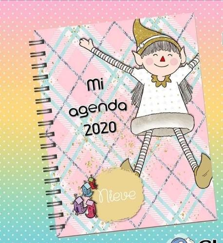 kit imprimible agenda editable - duendes mágicos 2020