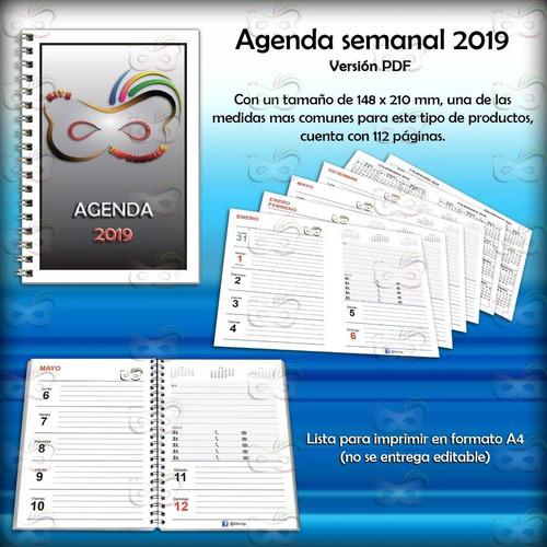 kit imprimible agenda semanal 2019