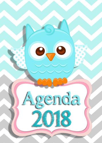 kit imprimible agendas infantiles 2018 editables