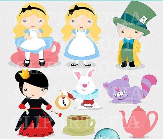 Kit Imprimible Alicia En El Pais De Las Maravillas Imagenes - $ 14 ...