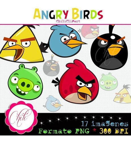 kit imprimible angry birds imagenes clipart b093