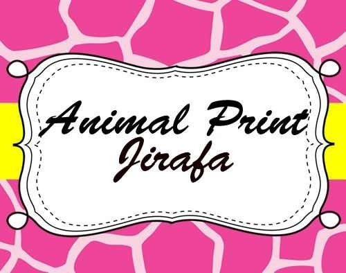 kit imprimible animal print jirafa diseñá tarjetas, cumpl #2