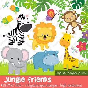 Kit Imprimible Animales De La Selva 3 28 Imagenes Ver Promo