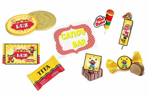 kit imprimible animalitos de circo personalizado 100%