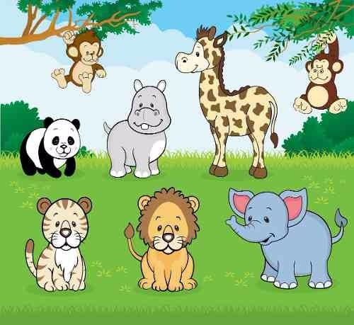 kit imprimible animalitos imagenes clipart cod397