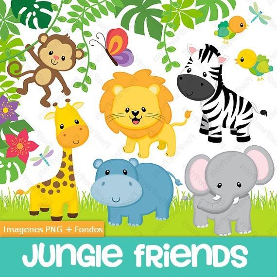 Kit Imprimible Animalitos Selva Safari Cliparts Fondos