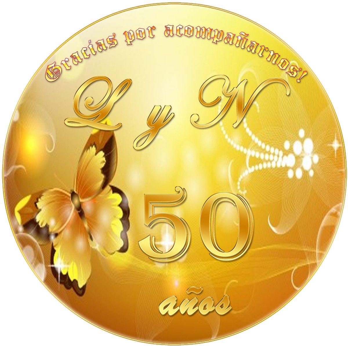 Kit Imprimible Aniversario Bodas Oro Fiesta Temática - $ 39,19 en ...