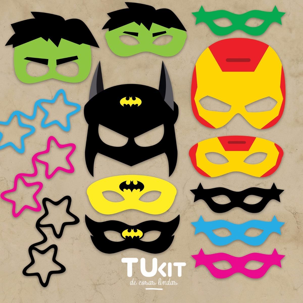 Kit Imprimible Antifaces - Mascaras - Super Heroes Candybar - $ 59 ...