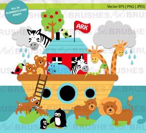 Kit Imprimible Arca De Noe 9 Imagenes Clipart