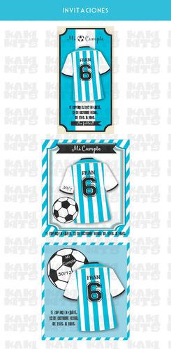 kit imprimible argentina futbol candy bar seleccion deco